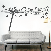 Birds On Wire Wall Decal -Trendy Wall Designs