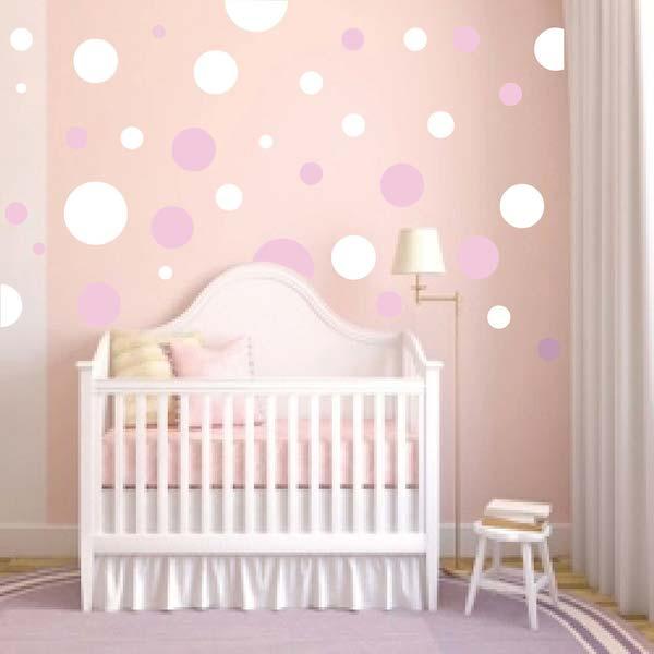 Nursery Polka Dot Wall Decals