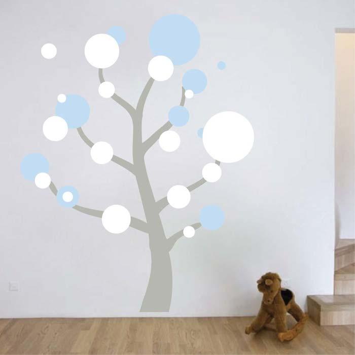 Polka Dot Tree Wall Art Design