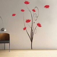 Trendy Flower Tree Wall Decal