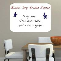 Basic Dry Erase Wall Decal
