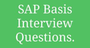 SAP Basis Interview Questions & Answers - Trenovision