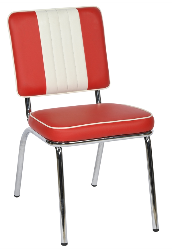 Classic Red  Cream American Diner Chairs  Trent Furniture