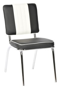 Black & White American Diner Chair