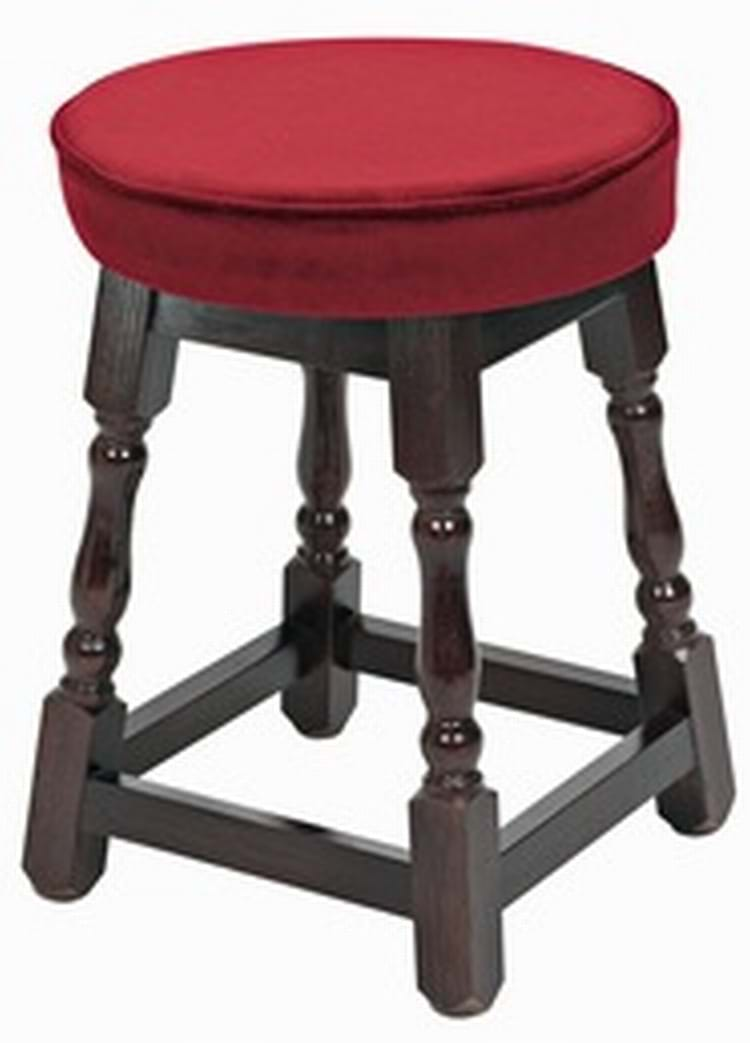 Small Piped Top Wooden Stool & Pub Chairs By Trent Furniture