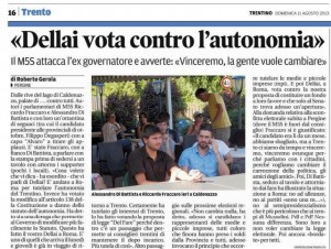 dellai voto contro l autonomia