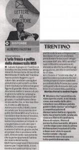 lettera al Trentino 14-6-2013
