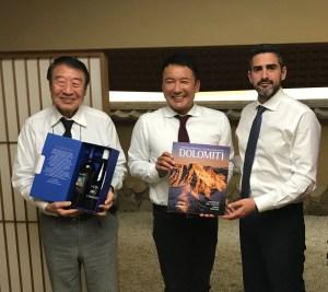 Fraccaro (M5s) in Giappone porta i vini del Trentino: Groppello di Revo' e la varietà resistente Johanniter