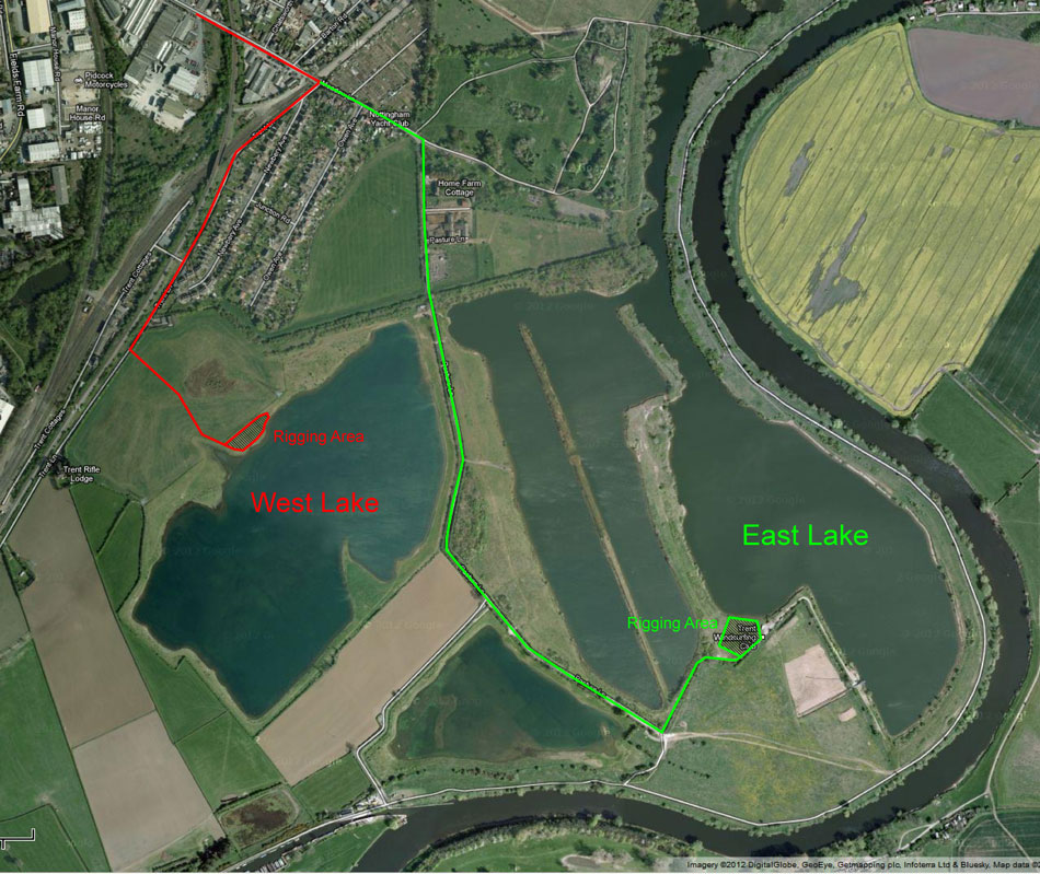 Our two lakes. Click the image for a bigger version. Details on how to get there can be found on the Location Map page.