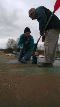 Spreading out the Bitumen Glue