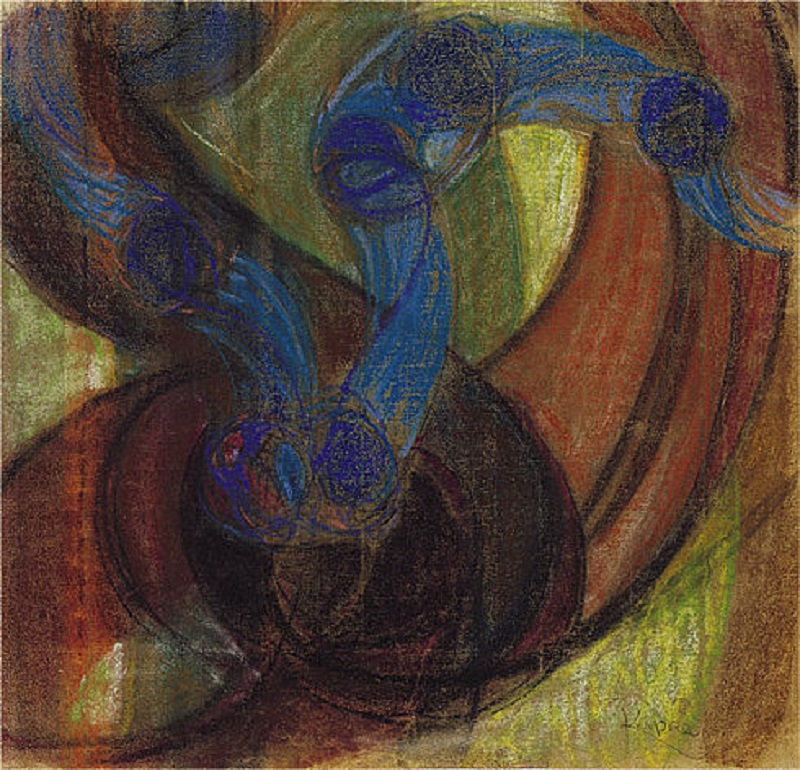 Kupka: Study for Amorpha, Warm Chromatic and for Fugue in two colors; Study for The Fugue c. 1910-1911