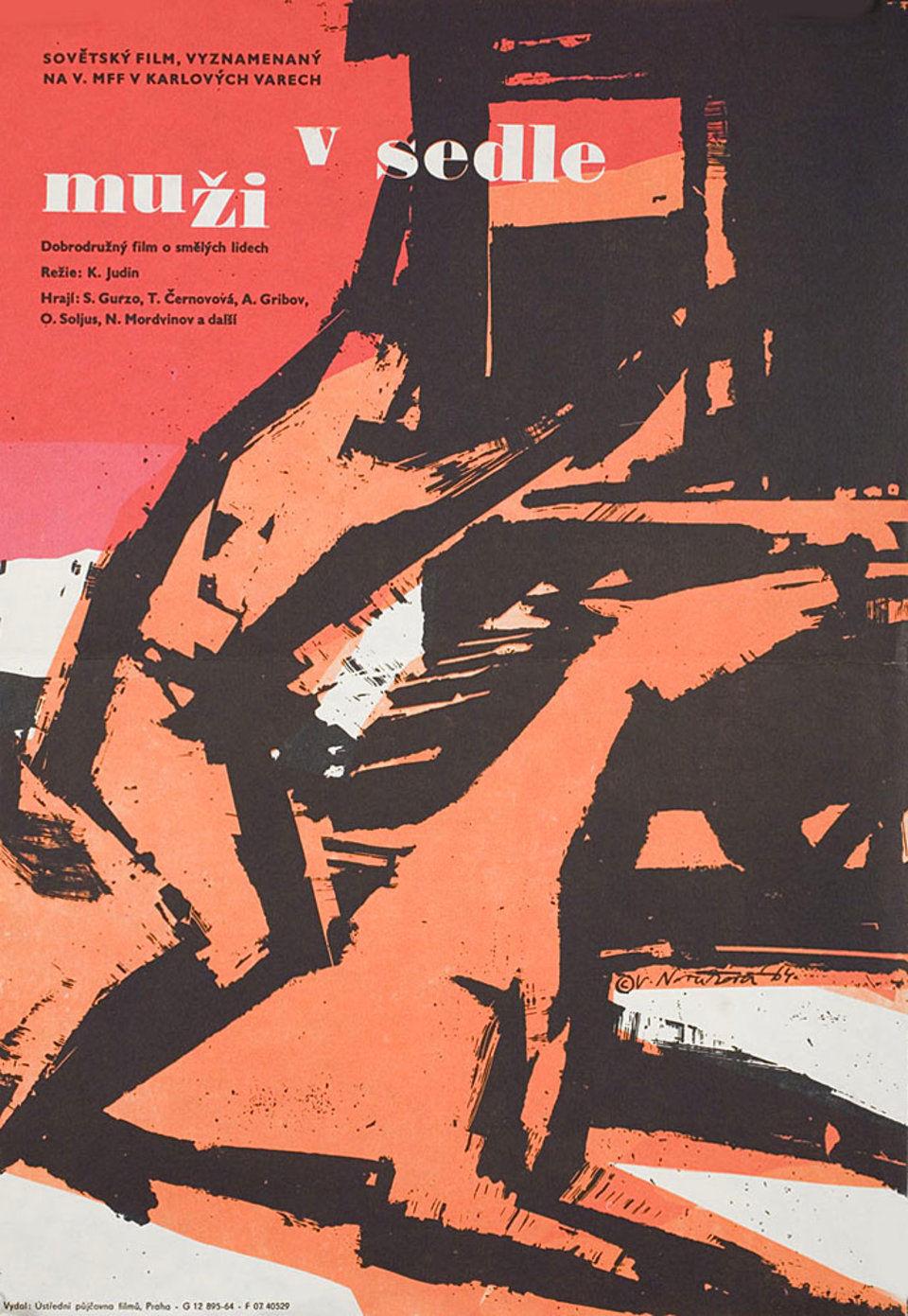 the-horsemen-1964-original-czech-movie-poster