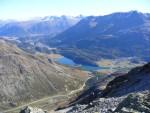 Sguardo sui laghi di St. Moritz.