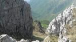 Uno sguardo al sentiero che porta al rifugio Alpinisti Monzesi.