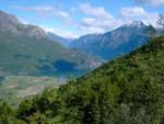 Alcune cime dell'Alto Lario e della Val Chiavenna.