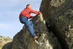 Gio sulle rocce.