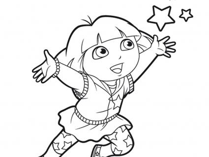 dessin à imprimer: Dessin A Colorier Dora Gratuit A Imprimer