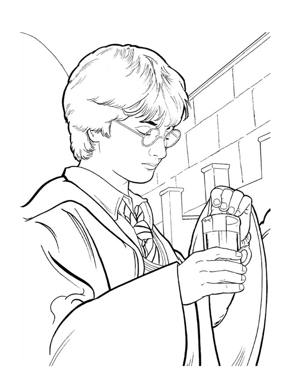 Harry Potter Ron Weasley Coloring Page Sketch Coloring Page