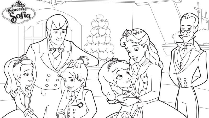 dessin à imprimer: Dessin A Imprimer Gratuit Princesse Sofia