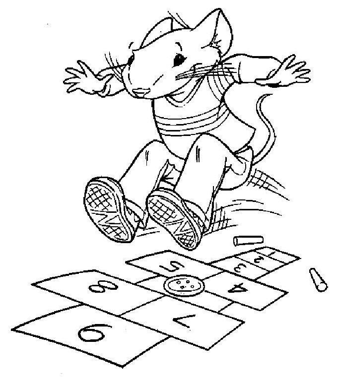 Hopscotch Coloring Pages