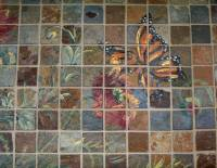 Hand-Painted Stone Mosaic Tile Murals
