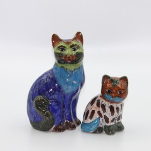 Statuette Chat en céramique H 19