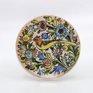 Carreau Oiseau / Dessous de Plat en céramique CD04 fait à la main en Iran