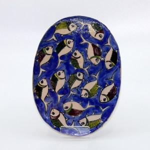 Carreau Poisson / Dessous de Plat en céramique CD06 fait à la main en Iran