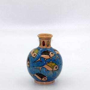 Potiche artisanale au motif poisson en céramique VD02