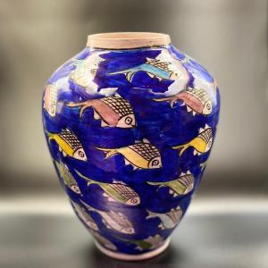 Vase artisanal fait main en iran