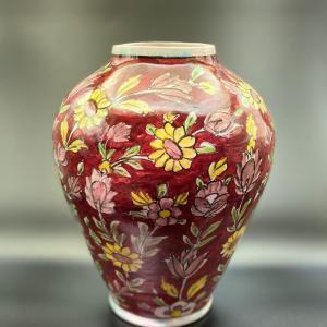 Vase au motif floral