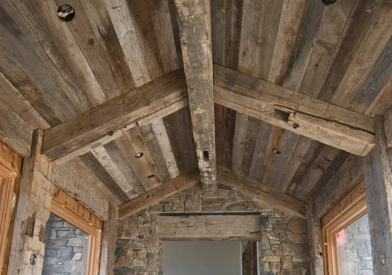Photo 17052  Gray Barnwood Ceiling