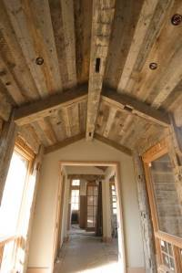 Photo #7453 - Hand-Hewn Timbers and Gray Barnwood Ceiling ...