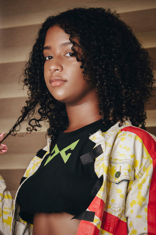 Black girl wearing adidas