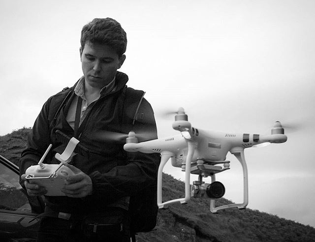 Instagram Post - Behind The Scenes: Shooting aerial shots with the #DJI #Phantom #isleofskye #scotland #elopement #destinationweddings #drone #weddingvideo #weddingfilm #photooftheday #uk #roadtrip #elopementfilm Photo by @mikey.westcott