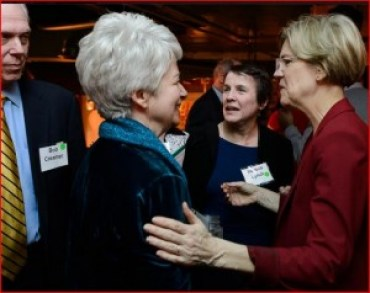 Bob Creamer, Heather Booth, Roberta Lynch, Elizabeth Warren