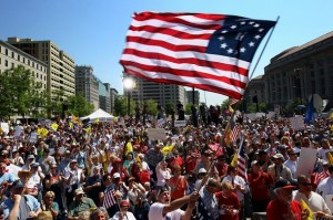 Tea Party Activists Hold Tax Day Rally In Washington