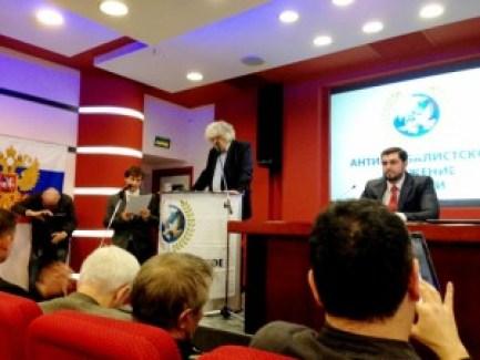 US delegate Joe Lombardo address the conference