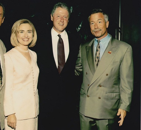 Terry Bean with the Clintons via the San Francisco Chronicle