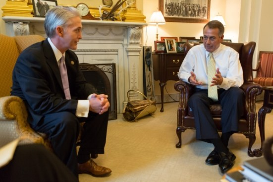 Former Speaker John Boehner meeting with Rep. Trey Gowdy