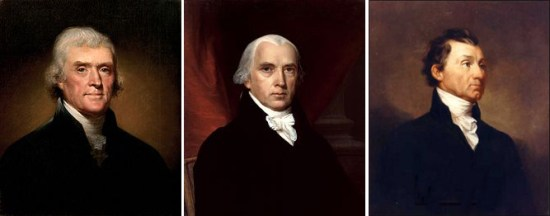 Thomas Jefferson, James Madison, and James Monroe all believed that public funding for local infrastructure projects was unconstitutional.