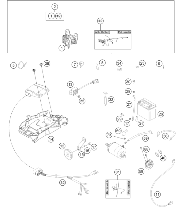 model a horn wiring diagram doorbell chime husqvarna fiche finder harness spare parts for the te 300 (eu)