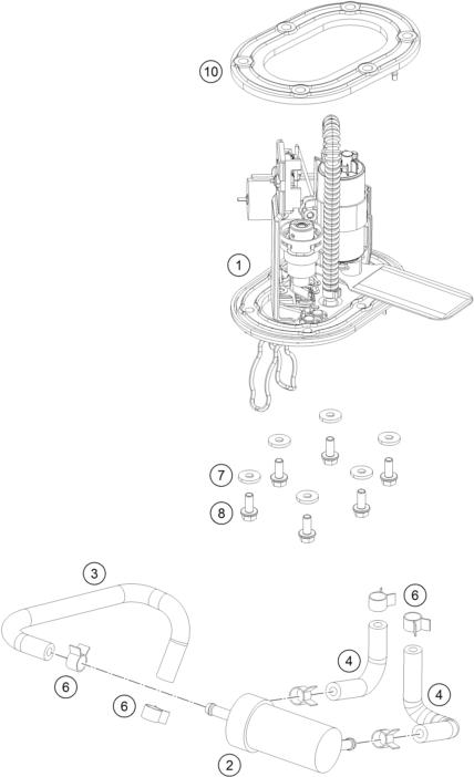 KTM fiche finder FUEL PUMP spare parts for the KTM 125