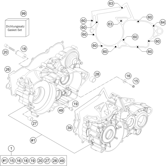 Husqvarna fiche finder ENGINE CASE spare parts for the