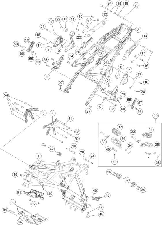 KTM fiche finder FRAME spare parts for the KTM 1190