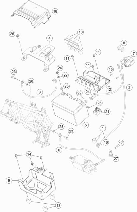 KTM fiche finder BATTERY spare parts for the KTM 690 SMC R