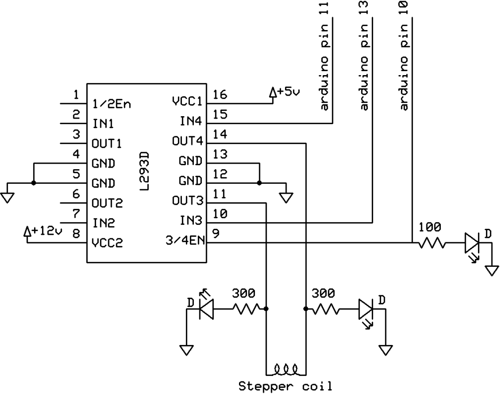 medium resolution of i held input 4 high and input 3 low and switched the enable pin with a pwm frequency of 500hz at a duty cycle of 120 255