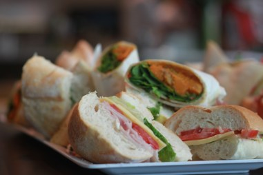 Delicious sandwiches from Trevs Catering