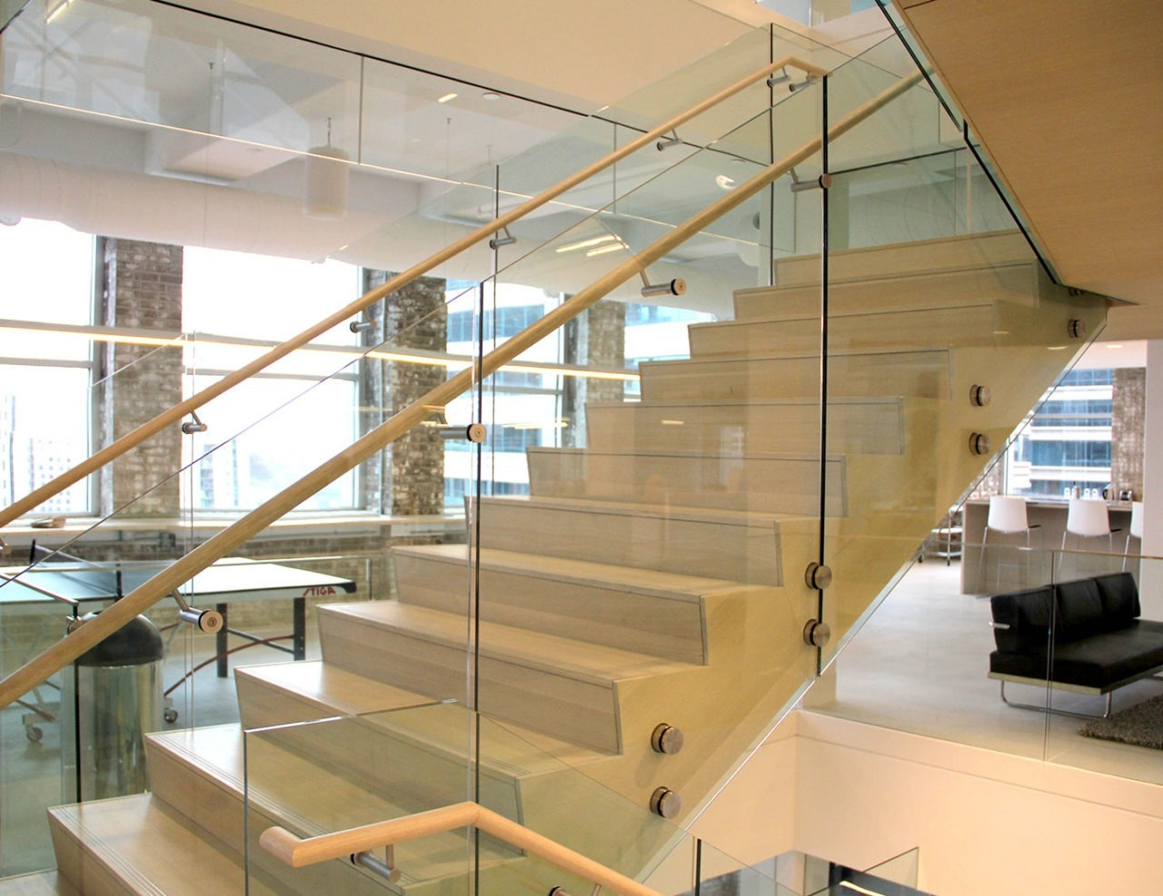 Fascia Node Mounted Glass Railing Trex Commercial Products   Glass Balustrade Stairs Near Me   Railing Systems   Frameless Glass   Deck Railing   Handrails   Metal