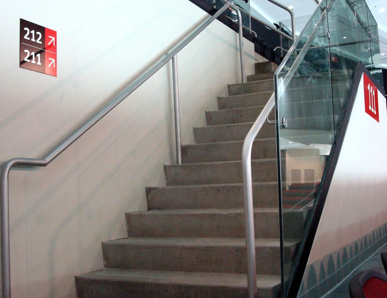 Griprail Commercial Metal Handrails Trex Commercial Products | Aluminum Railings For Steps | Porch | Wood Wall Mounted Stair | Solid Wood | Custom Treated | Modern